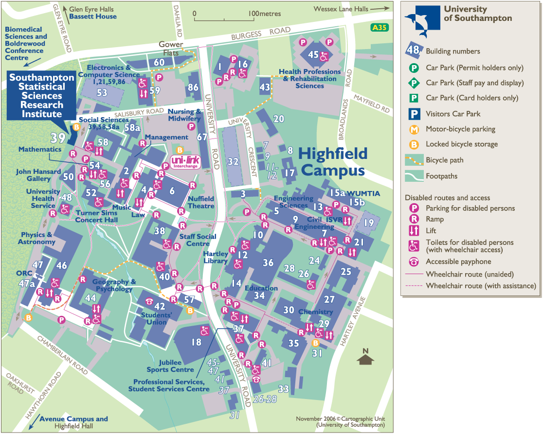 Southampton Campus Map Geo Refer Workshop   An Introduction to Geographical Referencencing Southampton Campus Map