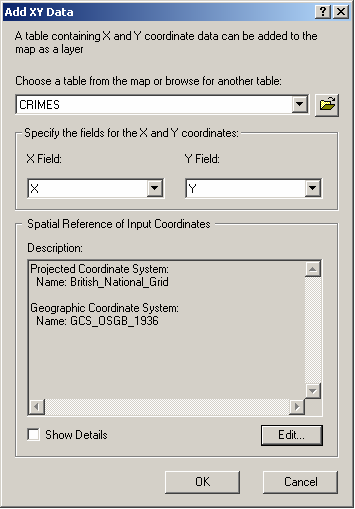 Mapping a set of points in ArcGIS