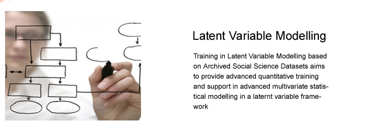 Training In Latent Variable Modelling Based on Archived Social Science Datasets
